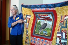 Nevada state coordinator for the Quilt of Valor Foundation, Victoria Colburn Hall