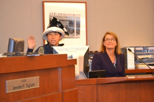 Judge Jennifer Togliatti gives students valuable lessons on the jusstice system through mock trials.
