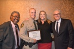 Court Services Manager Ed May, Michael Kyle, Mike's mom Kim Kampling, EJDC Security Director Tom Newsome