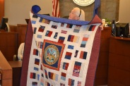 The local chapter of Quilt of Valor meets the second Friday of the month at 8670 W. Cheyenne Ave. from 8:30 a.m. to 12:30 p.m. in room 105. Volunteers are always welcome; no quilting experience is necessary. For more information call 702-357-0377.
