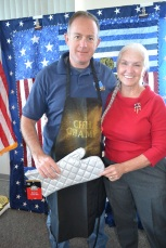 Matt Taylor with Nevada Department of Veterans Services is the second prize chili winner.