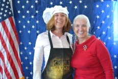 Christina Greene with specialty courts is the 2017 Chili Champ!