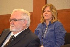 Judge Jim Crockett & Jundge Susan Johnson participate in discussion at Civil Bench Bar.