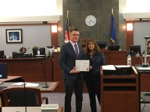 Michael Kagan was recognized by the District Court bench as the Legal Aid Center of Southern Nevada Pro Bono Volunteer of the Month for January. Judge Joanna Kishner presented the award to Michael.
