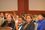 The fifth grade students asked the judge some very thoughtful questions.
