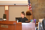 Junior judge presides over little pig mock trial.
