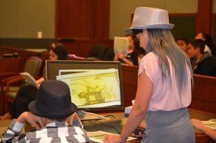 Fourth graders make their case in Harry Potter mock trial.