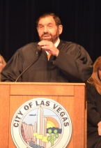 Nevada Supreme Court Justice Michael A. Cherry at ribbon cutting ceremony at new Nevada Supreme Court building in Las Vegas.