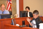 Judge David Jones helped to keep Hickey students on track as they did the Harry Potter mock trial.