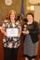 Employee of the Year Karen Christensen and Chief Judge Elizabeth Gonzalez