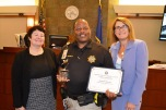 Chief Judge Elizabeth Gonzalez, Judicial Marshal of the Year Ronald Ramsey and Judge Jennifer Togliatti