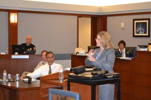 Judge Susan Johnson presiding over a Civil Bench Bar meeting.