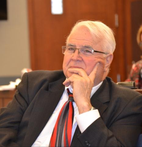 Judge Doug Smith during June Bench Bar meeting.