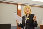 Judge Nancy Allf presiding over Civil Bench-Bar Meeting.