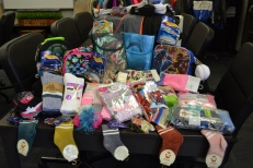 Through the generosity of some people at the District Court, on March 20, the woman who is the go-to source for kids needing resources got a special delivery of socks and underwear, plus some extras to be used as rewards for students in the program.