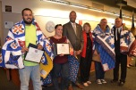 Four veterans were included in the graduates. The graduates each received a Quilt of Valor from the Las Vegas chapter of the organization.
