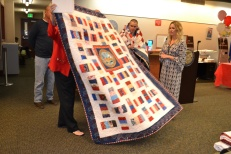 The Quilt of Valor Foundation was founded in 2003, by Blue Star mom Catherine Roberts from her sewing room. The local chapter of Quilt of Valor meets the second Friday of the month at 8670 W. Cheyenne Ave. from 8:30 a.m. to 12:30 p.m. in room 105 to make the quilts. Volunteers are always welcome; no quilting experience is necessary. For more information call 702-357-0377.